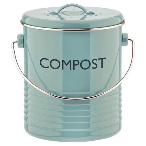 Enamel Kitchen Canisters typhoon vintage summer house blue kitchen compost bin