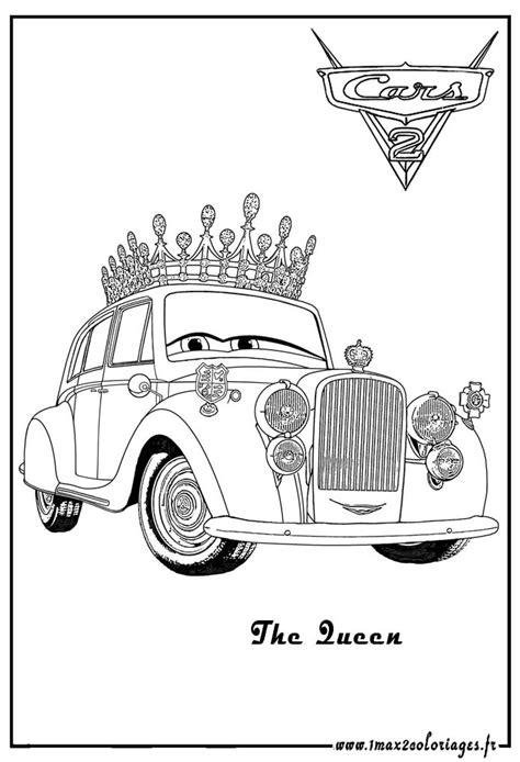 cars 2 coloring pages shu coloriages cars 2 la reine cars2 coloriages les bagnoles 2