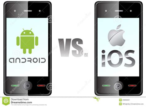 android or ios android vs ios editorial photo image 23690001