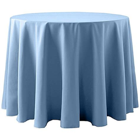 light blue pintuck tablecloth buy spun polyester132 inch tablecloth in light blue