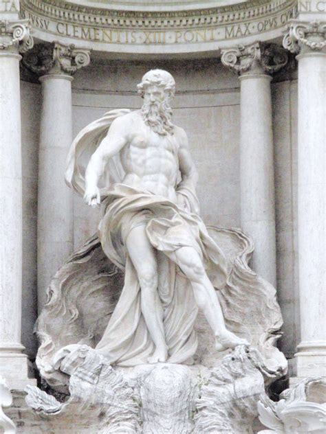greek god statue oceanus a titan in greek mythology