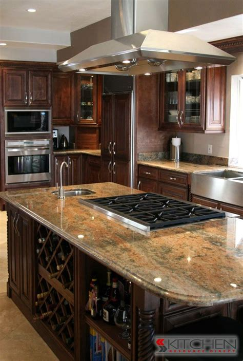 impressive stove tops for kitchen islands with island super functional island with wine rack bar sink and