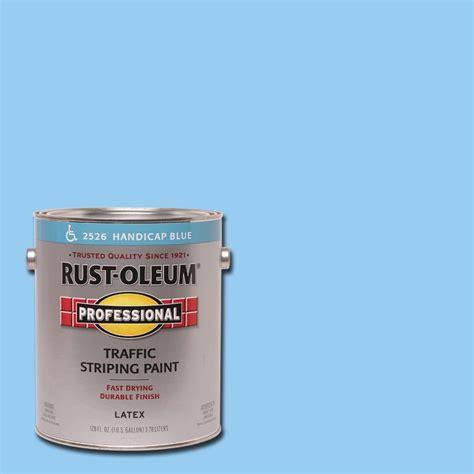 home depot pro x paint rust oleum professional 1 gal handicap blue flat traffic