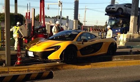 mclaren p1 crash strange mclaren p1 crashes into toll booth