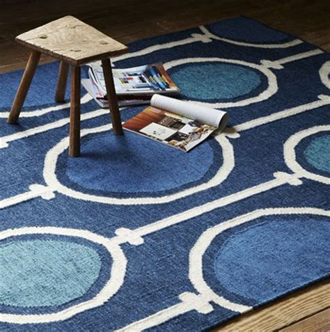 west elm blue rug navy interior design by room fu knockout interiors