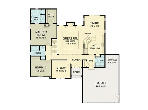 eplans ranch house plan open floor ranch 1552 square