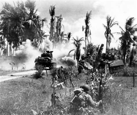 panzerj ger on the battlefield world war two m4 sherman tanks phillipines 1945 world war photos