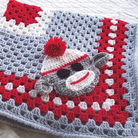 Free Crochet Pattern Sock Monkey Blanket