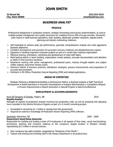 ba resume sles best resume gallery