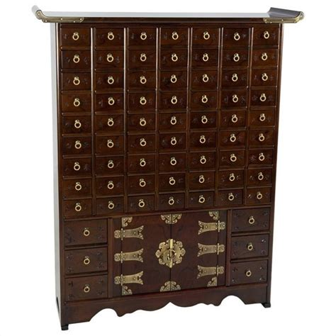 oriental accent l company oriental korean 63 drawer apothecary accent chest in