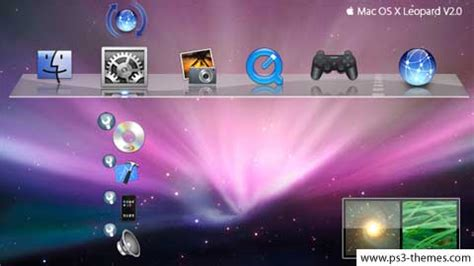 ps3 themes creator mac ps3 themes 187 apple mac os x leopard v2 0
