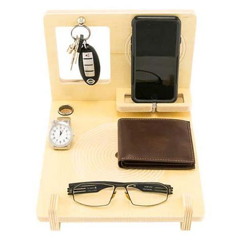 the handmade wood desk organizer with iphone 6 docking