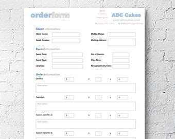 cake order receipt template cake decorating home bakery business management by