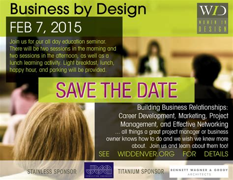 Women In Design ? SAVE THE DATE! 2015 Business by Design