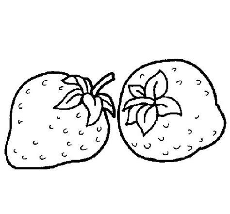 imagenes para colorear fresa dibujo de fresas para colorear dibujos net