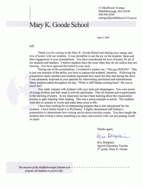 Parent Letter Requesting Gifted Testing Letter Of Application Letter Of Interest Elementary