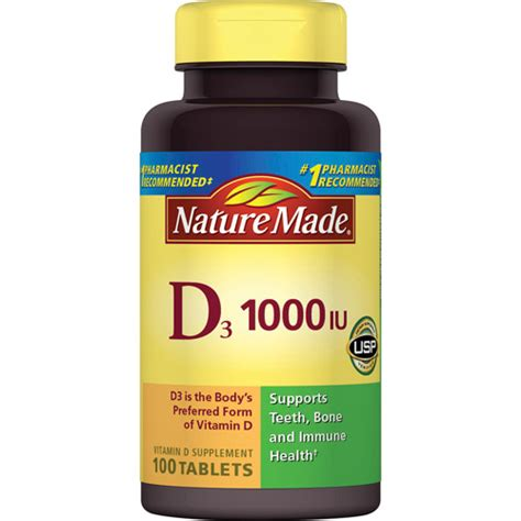 vitamin d supplement nature made vitamin d3 1000 i u tablets dietary