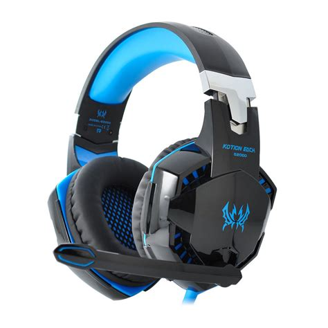 Headset Kotion Each G2000 Kotion Each G2000 Pro Gaming Headset For Pc Computer Blue