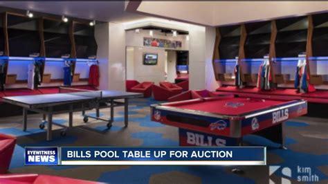 bills locker room pool table from bills locker room up for auction
