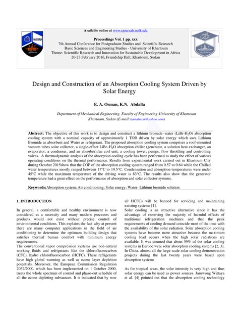 solar energy research paper pdf design and construction of an absorption pdf