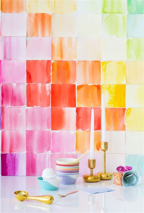 watercolor diy diy watercolor paper squares backdrop
