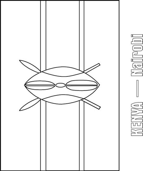 kenya flag coloring page download free kenya flag