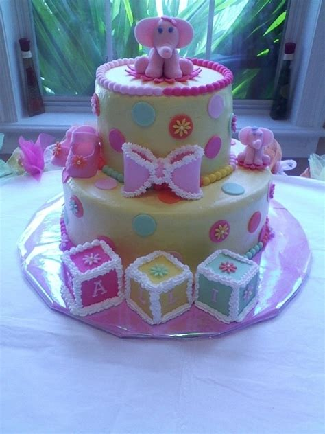 Baby Shower Elephant Cake by Elephant Baby Shower Cake