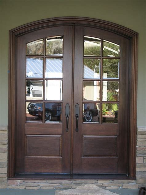 White Wooden Glass Double French Door Frames For Patio Wood Glass Exterior Doors