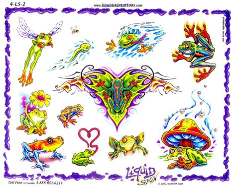 free tattoo frog tattoos