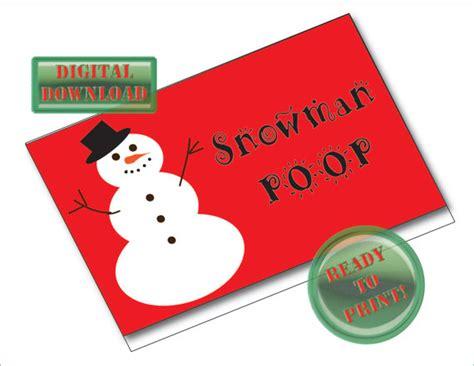 printable folding christmas gift tags snowman poop printable treat bags tags christmas gift tag