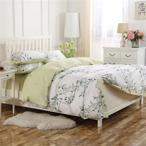 french style bedding 100 cotton floral printed king queen green french style