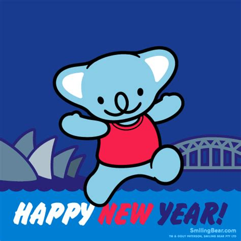 happy new year 2014 from sydney australia smiling bear 174