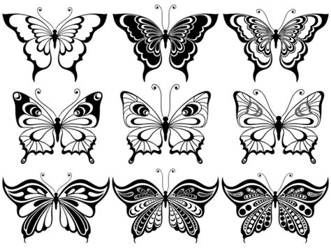 Decorative Butterflies With by Beautiful Decorative Butterflies Vector Design 03 Vector