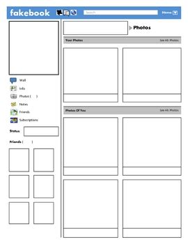 blank profile template best photos of blank template for students blank profile page template