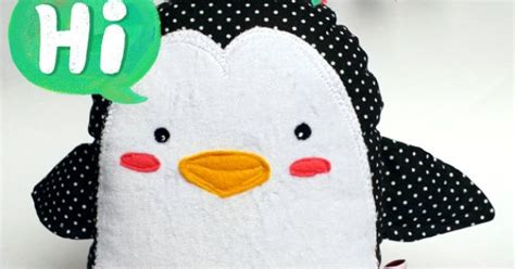 meet palmer penguin a doll sized softie or christmas pingi the penguin plush doll softie by toela on etsy