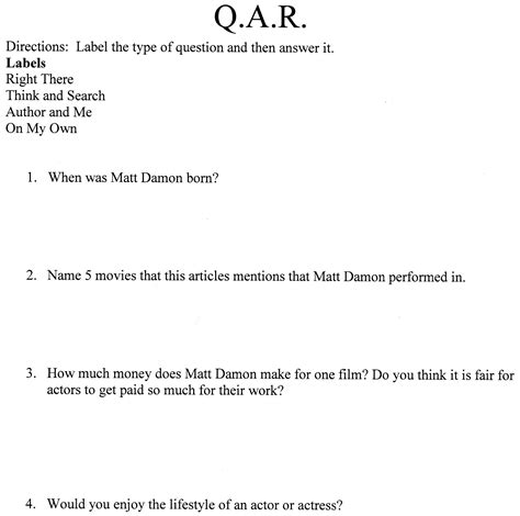 qar worksheet qar worksheet template free printables worksheet