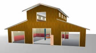 pole barn shop plans barn style garage studio combo on garage plans