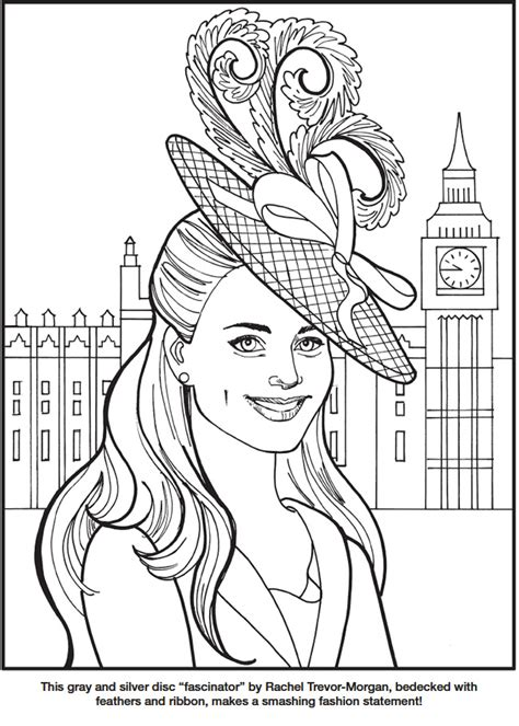 princess kate coloring pages kate the duchess of cambridge royal fashions coloring