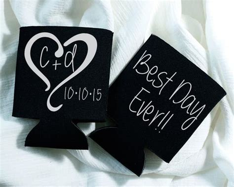 Best Day Ever Wedding Favor Wedding Favors Heart Monogrammed