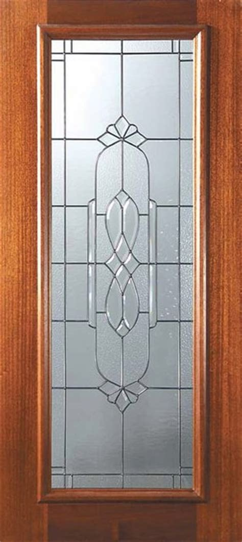 Exterior Slab Doors With Glass Slab Entry Single Door 80 Mahogany Kensington Lite Glass Mediterranean Front Doors