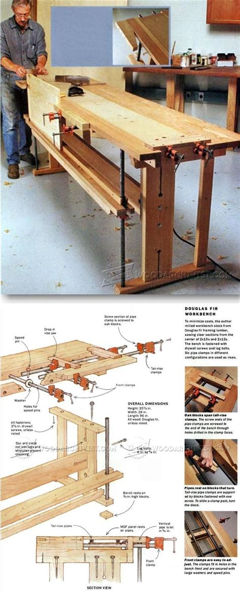 shop bench plans 1000 ideas about workbenches on pinterest woodworking