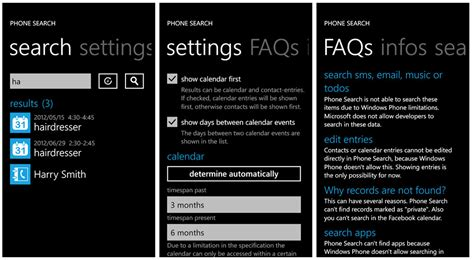 Phone Searches Phone Search Query Your Windows Phone Contacts And Calendar Windows Central