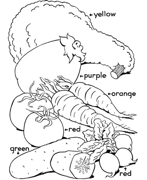 coloring book pages of vegetables fruit and vegetables coloring pages coloring home