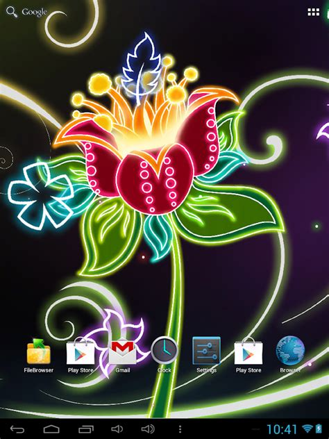 free java animated butterfly app download neon flowers live wallpaper android apps on google play