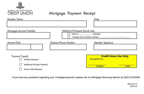 monthly payment for house loan monthly mortgage receipts mortgage payment receipt