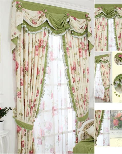 shabby chic curtains cottage shabby chic drapes