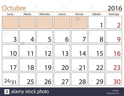 Calendario De Octubre October Month In A Year 2016 Calendar In Octubre