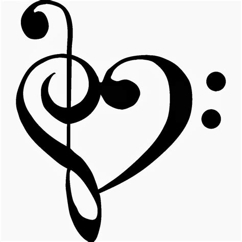 music note heart tattoo designs cool notes drawings clipart best