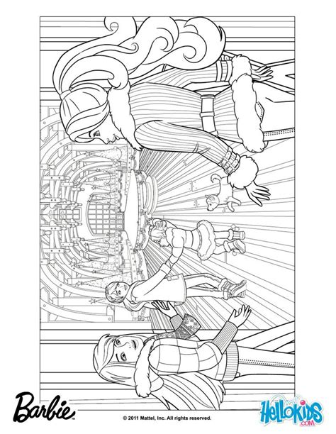 coloring pages barbie christmas 1000 images about barbie colouring page on pinterest