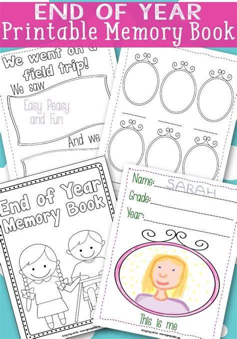 Free Printable Memory Book Templates End Of Year Memory Book Free Printable Easy Peasy And Fun